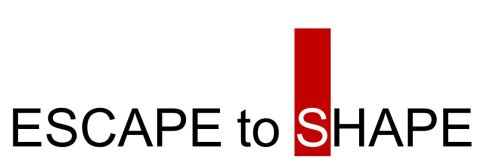escape to shape logo